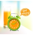 Alarm clock background vector