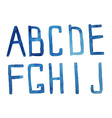 Watercolor alphabet a j hand drawn artistic a j vector