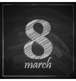 8 march womens day greeting card with number eight vector