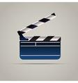 Cinema film clap board icon vector