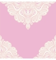 Pink lace ornament vector