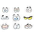 Cartoon funny eyes collection vector