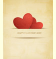 Holiday vintage valentines day background two red vector