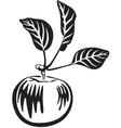 Apple black vector