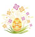 Easter egg flower vector