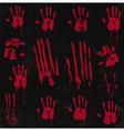 Bloody hand print set 01 vector