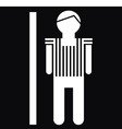 Man icon on black background vector