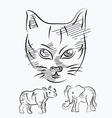 Animal sketch vector
