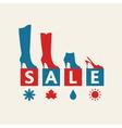 Shoe sale vector