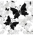 Black white butterfly vector