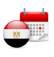 Icon of national day in egypt vector