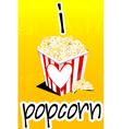 I love popcorn vector