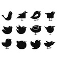 Social bird icons vector