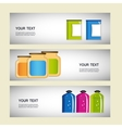 Set of containers for food preservation vector
