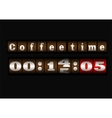 Coffee time clock vector