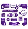 Set of blueviolet progress version step icons vector