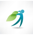Eco man abstraction icon vector
