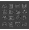 Finance icons set outline vector
