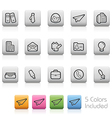 Office and business buttons vector