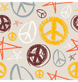 Peace symbols seamless background vector