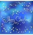 Christmas card with stars vector