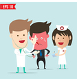 Doctor use stethoscope checking up vector