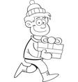 Cartoon gift kid vector