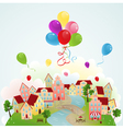 Holiday town vector