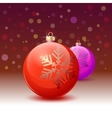 Red christmas ball over white background vector