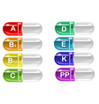 Vitamin pills vector