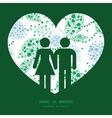 Abstract blue and green leaves couple in vector