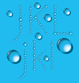 Water drop letters on blue new 04 vector