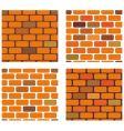 Brick seamless textures vector