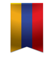 Ribbon banner - armenian flag vector