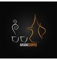 Coffee vintage design backgroundarabic vector