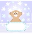 Baby bear greetings card vector