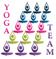 Yoga team icon vector