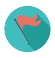 Flag single icon vector