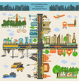 Set of modern city elements for creating your own vector