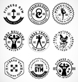 Sports and fitness badges in vintage style vector