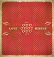 Vintage valentines day card with polka dots and vector