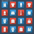Fashion clothes for men vector