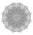 Contemporary doily round lace floral pattern vector