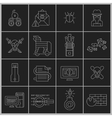 Hacker icons set outline vector
