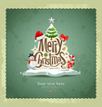 Merry christmas vintage design vector