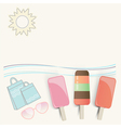 Summer ice cream at the seaside vector
