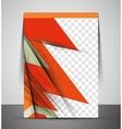 Cmyk business corporate flyer template vector