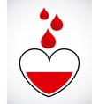Donate blood design vector