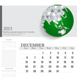 Simple 2015 calendar december vector