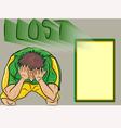 People lost footballsad football fan vector